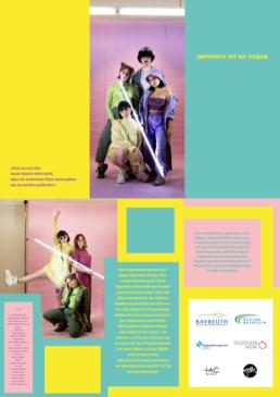 Programmheft für die Theaterperformance Jammern ist En Vogue