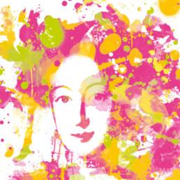 Hommage an Bayreuth - Markgräfin Wilhelmine Digital Art auf Leinwand gedruckt in Aquarell Optik und limitierter Auflage