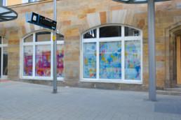 Hommage an Bayreuth Altes und Neues Schloss im Digital Art Aquarell-Look