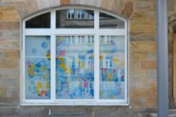 Hommage an Bayreuth Altes Schloss im Digital Art Aquarell-Look