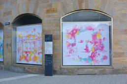 Hommage an Bayreuth Richard Wagner und Opernhaus im Digital Art Aquarell-Look