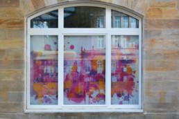 Hommage an Bayreuth unse Neues Schloss im Digital Art Aquarell-Look