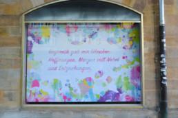 Hommage an Bayreuth Sprich von Jean Paul im Digital Art Aquarell-Look
