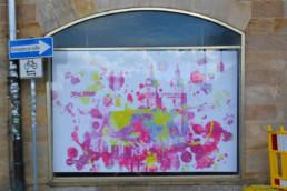 Hommage an Bayreuth unsere Stadtkirche im Digital Art Aquarell-Look