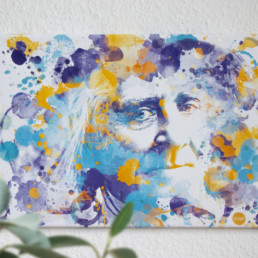 Hommage an Bayreuth Franz Liszt in Digital Art in Aquarelloptik von Susanne Seilkopf