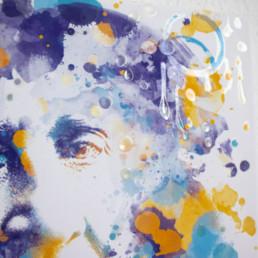 Hommage an Bayreuth Franz Liszt in Detailansicht in Digital Art in Aquarelloptik von Susanne Seilkopf