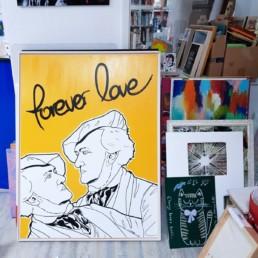 mein atelier mit blick auf grosse kunstwerke