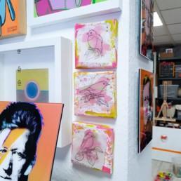 mein atelier mit blick auf die seitenwand
