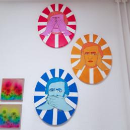 mein atelier mit Richard wagner als die 3 affen