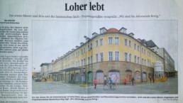Projekt Hommage an Bayreuth Pressetext aus dem Nordbayrischen Kurier von 2016