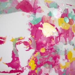 Hommage an Bayreuth Richard Wagner in Detailansicht in Digital Art in Aquarelloptik von Susanne Seilkopf