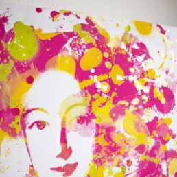 Hommage an Bayreuth Markgräfin Wilhelmine in Detailansicht in Digital Art in Aquarelloptik von Susanne Seilkopf