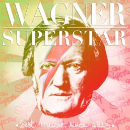 Besto fo Wagner Superstar ist ein Digitales POP-Art Werk der Künstlerin Susanne Seilkopf